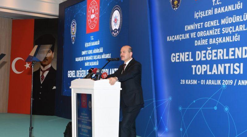 Kaçakçılık ve Organize Suçlarla Mücadele Dairesi Başkanlığı Genel Değerlendirme Toplantısı